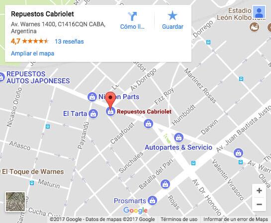 Cabriolet Repuestos Google Maps