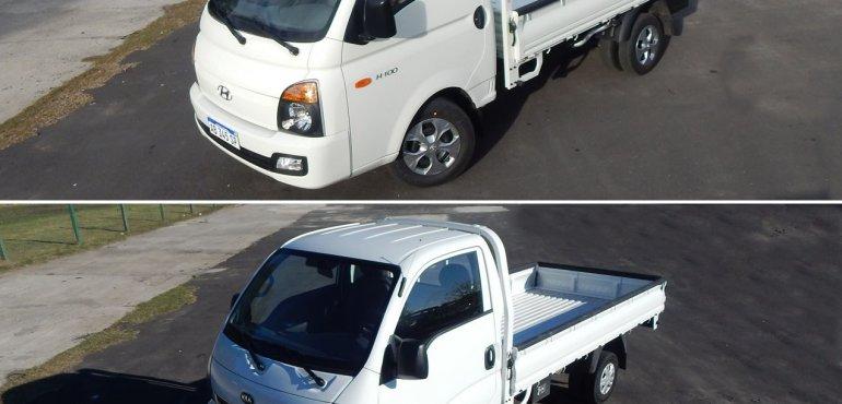 Kia K2500 versus Hyundai H100